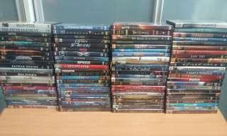 DVDs [reduced to $20 for 90 movies]