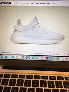YEEZY boost 350 v2 Triple White 9/21/18 release size USA 10 Asia 26
