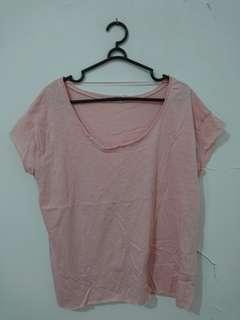 Blouse Basic Pull&Bear Pink NEW