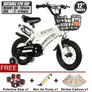 BMX KIDS BIKE 12 INCH WHEELS ( WITH EXTRA WHEEL FOR TRAINING )