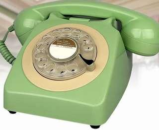 BRAND NEW RETRO DESIGNED ROTARY DIALED TELEPHONE