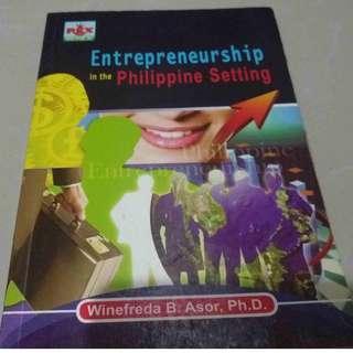 Entrepreneurship in the Philippine Setting