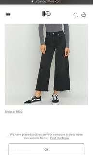 Urban Outfitters slouchy wide leg
