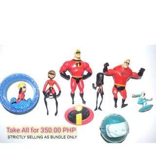 The Incredibles Set of 6 Mix (Mcdonalds)