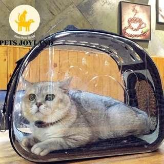 Transparent Clear Pet's Carrier Bag for cats/rabbits/small dogs/chinchillas