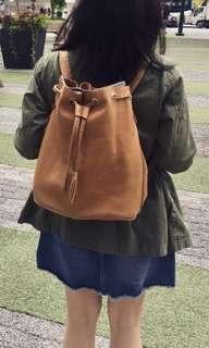 FURTHER REPRICED! Leather bucket bag / knapsack