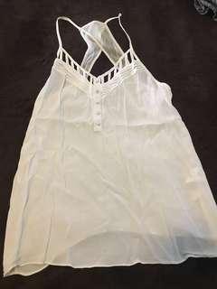 Forever new white singlet top size 10