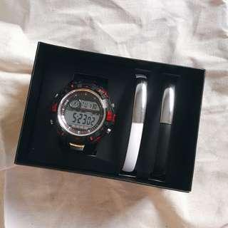 BRAND NEW Men's watch and 2-pc USB bracelet