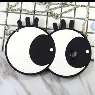 note4大眼手機殼附背鏈全新可換物