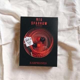 BRAND NEW red earbuds