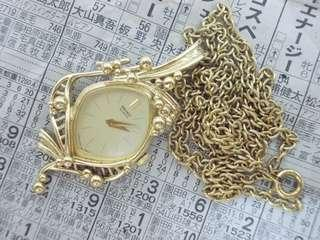 Vintage seiko lady pendant watch from japan