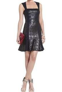 HIRE! Noelle Fitted Sequined Flounce Dress