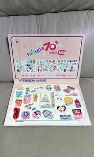 維化奶70周年限量版貼紙