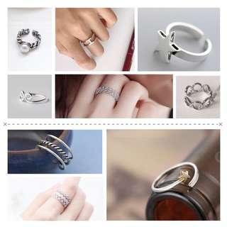 🚚 925純銀戒指可調式