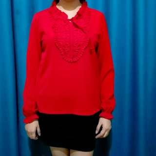 Red Formal Top