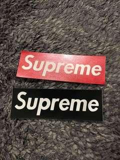 Supreme skateboard stickers