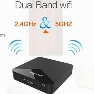 🚚 Magicsee N5 Amlogic S905X 2GB/16GB Android 7.1 4K TV BOX Support YouTube Netflix 2.4G/5GB DUAL WIFI LAN HDMI H.265 Bluetooth