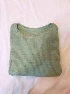 二手 草綠色毛衣