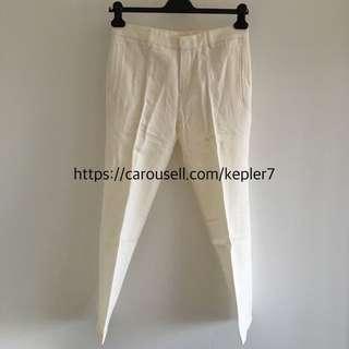 CK Calvin Klein Linen White Trouser