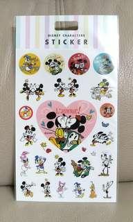 韓國製mdae in korea 米奇米妮唐老鴨黛絲貼紙 mickey love minnie donald daisy sticker