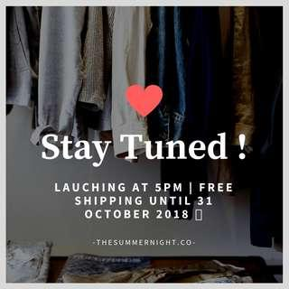We're Opening Now ! Free Shipping Until 31 October 2018