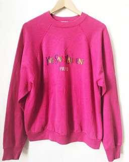 Embroidered YSL multi colors sweatshirt in Pink