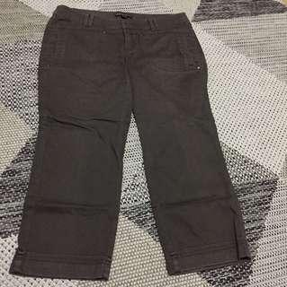 Mango brown capri pants