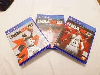 NBA2K18 NBA2K17 NBA2K16 Set