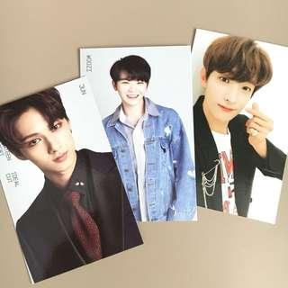 OFFICIAL SEVENTEEN JUN, WOOZI, DK IDEAL CUT JAPAN TRADING CARD