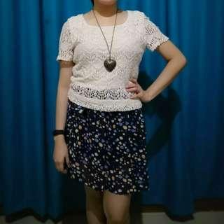 Lacey Dress Polka Skirt Vintage Look