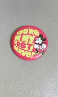 迪士尼米妮襟章 disney minnie button