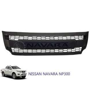 NISSAN NAVARA NP300 2015 (NNF-061) FRONT GRILLE V5 MATT BLACK WITH WHITE & YELLOW LED
