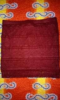 Maroon wrap around skirt