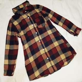 Plaid Polo Top/Dress