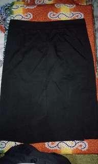 Woman Prima Black A-Line Skirt
