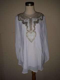 baju pakaian wanita putih