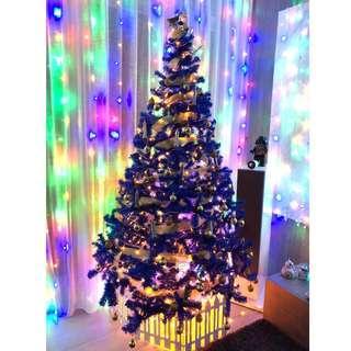 2.1m Blue Christmas Tree