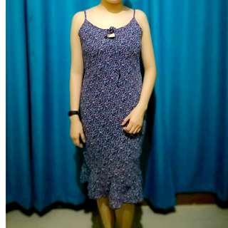 Violet Floral Midi Dress