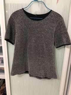 Grey shimmer outline top