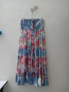 Floral long dress/ beach wear