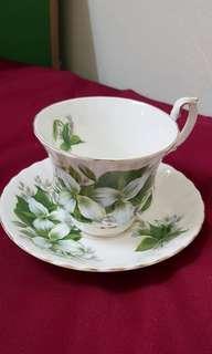 Royal Albert 'Trillium' Cup & Saucer