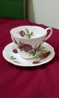 Royal Albert 'Royal Canadian Rose' Cup & Saucer