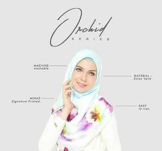 3 helai Minaz square scarf