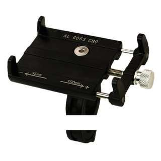 """Handle Phone Mount Holder Suitable for 4 - 6.0"""" Handphone Size 360 Degree Rotation for Escooters / Bicycles / Ebike"""