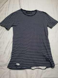 Cotton On Striped Destroyed Tee