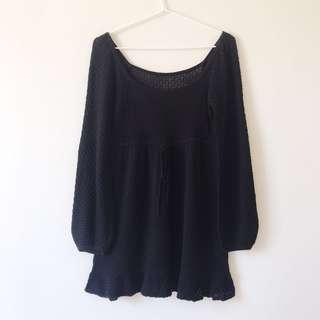 Bishop sleeves knit dress size 38/ M