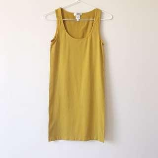 *worn ONCE* Temt mustard tank dress size M
