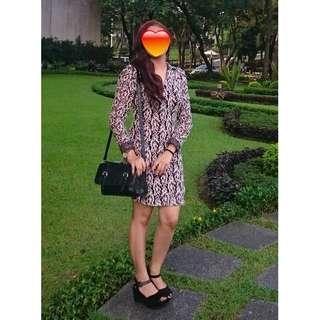 Brown Lacey Elegant Dress