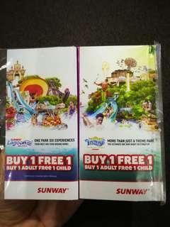 Sunway Lagoon (Buy 1 adult free 1 child)