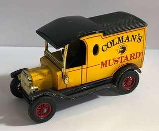 Diecast model car, Coleman's Mustard, Ford Model T, Made in England.